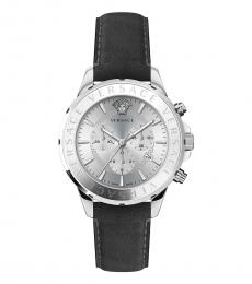 Versace Grey Silver Logo Watch