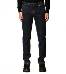Fay Navy Blue Regular Waist Jeans