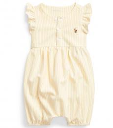 Ralph Lauren Baby Girls Yellow Oxford Bubble Shortall