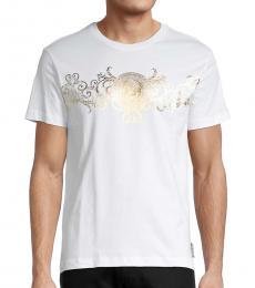 Versace Jeans White Graphic Cotton T-Shirt