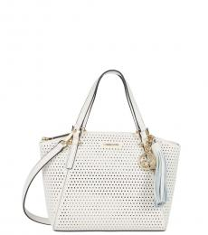 White Perf Small Satchel
