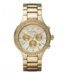 DKNY Golden Ceramic Chrono Dial Watch