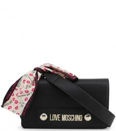 Love Moschino Black Scarf Small Crossbody
