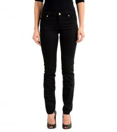 Black Pocket Pin Slim Fit Jeans