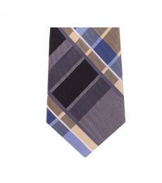 Michael Kors Multi Color Neat Plaid Slim Silk Tie