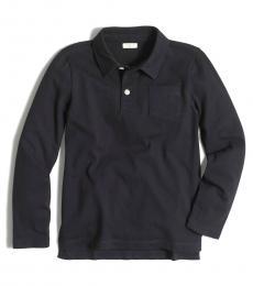 J.Crew Boys Navy Long Sleeve Polo