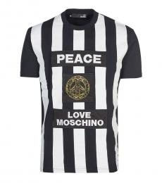 Love Moschino White Patch Logo T-Shirt