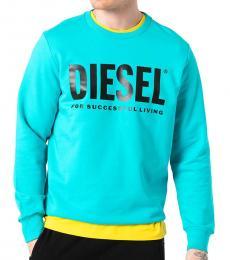 Diesel Turquoise Gir-Division Sweatshirt