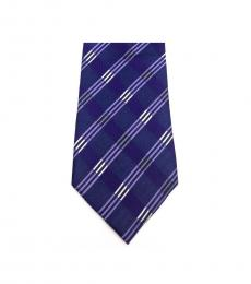 Purple Streamline Striped Slim Silk Tie