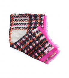 Coach Multicolor Boucle Printed Scarf
