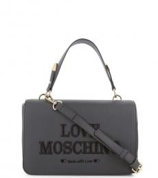 Love Moschino Grey Top Handle Small Crossbody