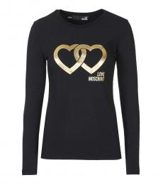 Love Moschino Black Logo T-Shirt