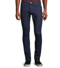Michael Kors Navy Blue Low-Rise Skinny Fit Jeans