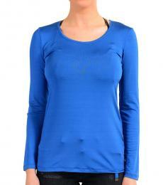 Blue Crewneck Long Sleeve Top