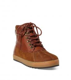 Ralph Lauren Saddle Regnald Duck Toe Boots