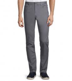 Michael Kors Grey Slim Straight Twill Trousers