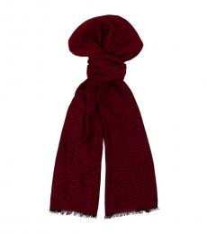Moschino Red Signature Scarf