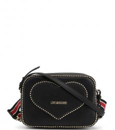 Love Moschino Black Heart Stud Small Crossbody