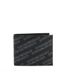Emporio Armani Black Printed Logo Wallet