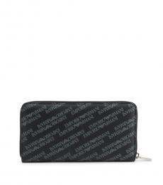 Emporio Armani Black Long Logo Wallet