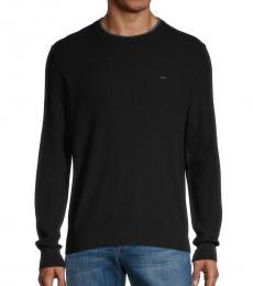 Michael Kors Black Logo Knit Pullover