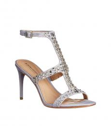 BCBGMaxazria Silver Haze Rhinestone Heels