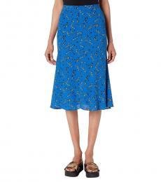 McQ Alexander McQueen Sky Blue Printed Skirt