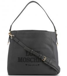 Love Moschino Grey Made With Love Large Hobo
