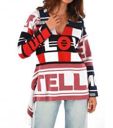 Multi color Asymmetrical Cut Sweater