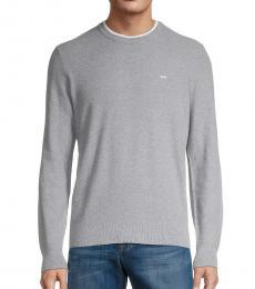 Michael Kors Grey Logo Knit Pullover