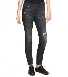 Armani Exchange Dark Grey Super Skinny Jeans
