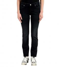 Dark Blue Embellished Slim Fit Jeans