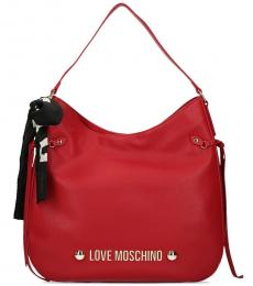 Love Moschino Red Scarf Large Hobo