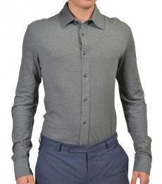 Dark Grey Button Front Shirt