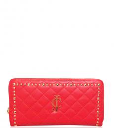 Red Studded Wallet