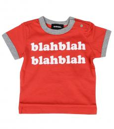 Diesel Baby Boys Red Blah T-Shirt