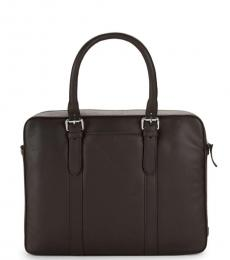 Cole Haan Brown Top Handle Large Briefcase Bag