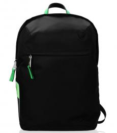Black Side Logo Large Backpack