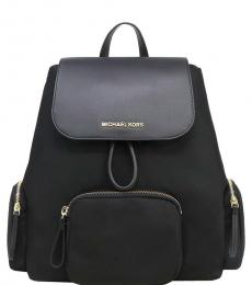 Michael Kors Black Abbey Cargo Large Backpack