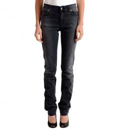 Dark Grey Straight Leg Jeans