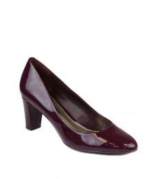 Ralph Lauren Claret Red Hala Patent Leather Heels