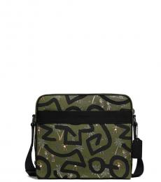Coach Green Keith Haring Charles Large Messenger Bag