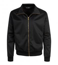 Dolce & Gabbana Black Solid Logo Jacket