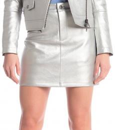 Silver Myrah Metallic Mini Skirt