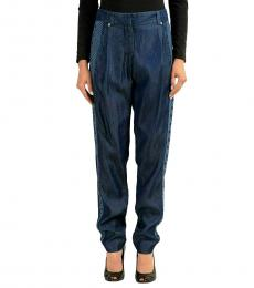 Blue Regular Fit Casual Pants