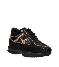 Black Atelier Sequins Sneakers