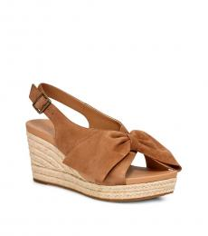 Chestnut Camilla Wedges