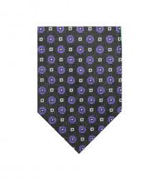 Ralph Lauren Black Classic Geometric Silk Tie