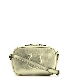 Salvatore Ferragamo Gold Gancino City Mini Crossbody