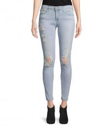 Light Blue Super Skinny Ankle Jeans